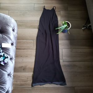 Silence + Noise black halter maxi dress L